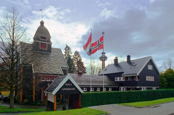Demontabele Noorse Kerk / Norwegian Church ( M. Poulsson & A. Arneberg )