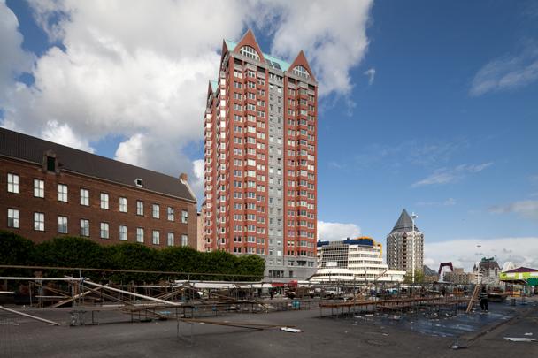 Woongebouw Statendam, PTT-kantoor / Housing Block Statendam, Postal Service Office ( J.R.A. Koops (Gemeentewerken); H.F. Kollhoff, Rapp + Rapp )