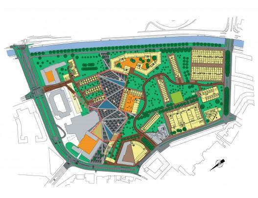 Stedenbouwkundig plan Chasséterrein / Urban Design Chassé Site ( OMA, West 8 i.s.m. diverse architecten )