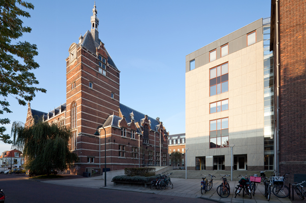 Schuttersveld (Centrale Bibliotheek en Weg- en Waterbouwkunde TH Delft) / Schuttersveld (Centrale Bibliotheek en Weg- en Waterbouwkunde TH Delft) ( J.A.W. Vrijman )